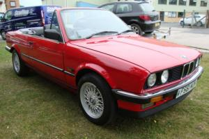 BMW 320 2.0 i red classic convertible bbs style alloys, full leather,