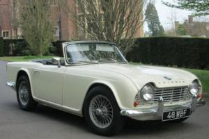 1963 Triumph TR4 Rare White Dash Model. Convertible. OVER DRIVE. RHD. UK CAR Photo