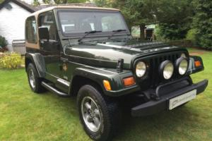 STUNNING JEEP WRANGLER SAHARA 4.0L MANUAL GREAT 4X4 ICONIC EVERYDAY CLASSIC