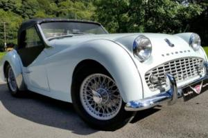 1959 Triumph TR3A, Sebring White excellent bodywork, previous full restoration