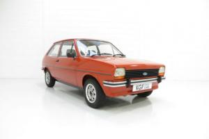 A Pristine Mk1 Ford Fiesta 1300GL with an Incredible 26,333 Miles from New.