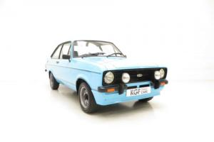 A Stunning Ford Escort Mk2 1600 Sport in Show Condition