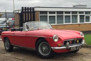 1972 MGB ROADSTER 1.8 CONVERTIBLE SOFT TOP. TAX EXEMPT. OVERDRIVE. 12 MONTHS MOT Photo