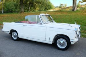 1966 (D) Triumph Herald 1200 Convertible, White with Red Trim, Lovely Condition