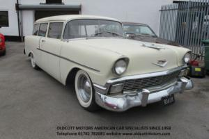 1956 CHEVROLET STATION WAGON 265 V8 MANUAL 3 SPEED, RECENT IMPORT