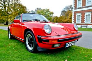 1986 Porsche 911 TARGA GUARDS RED FSH 138000MLS BLACK LEATHER RECENT RESTORATION