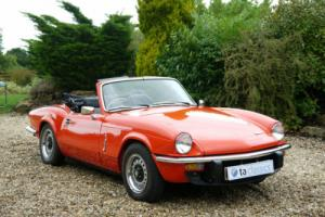 1980 Triumph Spitfire 1500. Restored 5 Years Ago. Photo