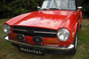 1971 Triumph TR6 Overdrive, Mohair roof, Photographic restoration,Pimento Red