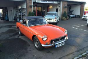 MG/ MGF B Roadster,chrome bumper, 1973 ONLY 61000 MILES FROM NEW 2 OWNERS