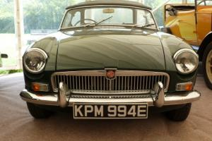 1967 MG B ROADSTER, BRITISH RACING GREEN, CHROME WIRES  Photo