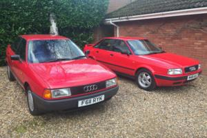 Audi 80 1.8 E 4 DOOR 89 F REG ONLY 2 OWNERS FULL HISTORY CHOICE OF 2 Photo