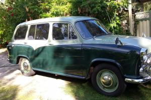 Morris Oxford Traveller 1959 2 Tone Green Chrome Trim in WA