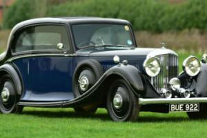 1935 Derby 3 1/2 Litre Pillarless sports saloon by Rippon. For Sale Photo