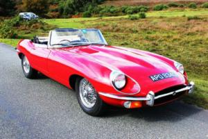Jaguar 'E' TYPE Series 2 Roadster 1968 Stunning Red With Black UK Car Photo