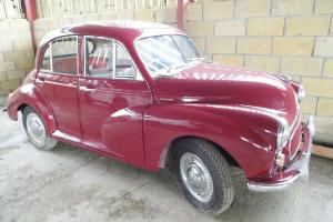 1955 MORRIS MINOR MAROON split screen, paperwork