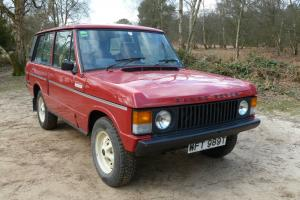 1979 ROVER RANGE ROVER MASAI RED 64,000 MILES NEVER WELDED
