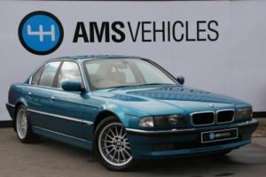 BMW 740I INDIVIDUAL AUTOMATIC ATLANTIS BLUE CREAM LEATHER PIPED - OUTSTANDING!