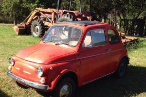 Fiat 500 F 1972 Rare Totally Original CAR Shedded FOR Last 20 Years in NSW