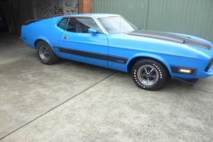 Price Drop 1973 Ford Mustang Mach 1 Blue Left Hand Drive in VIC