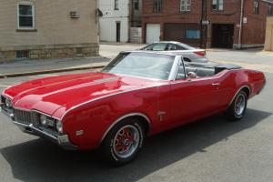 1968 Cutlass S convertible Red with black interior Sharp oldsmobile drive home