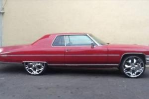 Cadillac Coupe 1973 BIG Block Mssive Rims AND Sterio LOW Rider Custom Pimped