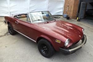FIAT 124 1.8 SPIDER CONVERTIBLE 5 SPEED LHD(1977) RED RUST FREE RESTORATION CAR!