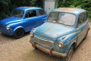 1955 FIAT 600 BLUE and Zastava 750 - restoration project