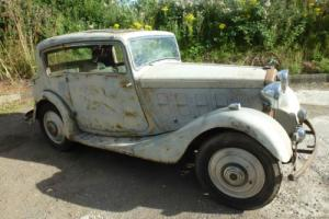 extremely rare 1934 humber 12 vogue pillarless coupe barn find stored since 1965