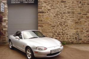 2000 X MAZDA MX5 1.6 CONVERTIBLE UNIQUE ONE LADY OWNER 26165 MILES LEATHER.