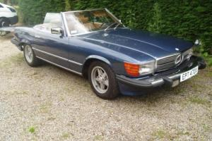 LEFT HAND DRIVE MERCEDES SPORTS 380SL ROADSTER CONVERTIBLE SUPERB COND LHD