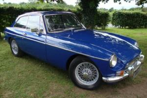 MG B GT 1.8 BLUE CHROME BUMPER 1969 MK Mark 1 12 month MOT Photo