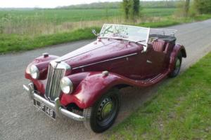 "1954 MG TF UK RHD Matching Numbers ""LJF 148"""
