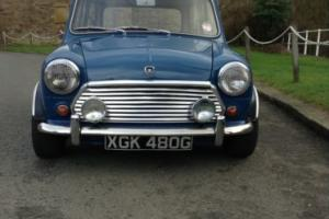 MORRIS MINI COOPER BLUE/WHITE Mk 2 Fantastic Condition rebuilt everything !
