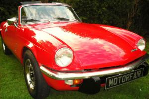 1972 TRIUMPH SPITFIRE MK4 1300cc, SIGNAL RED, STUNNING THROUGHOUT