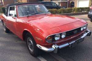 Triumph Stag H reg LD 138. Manual with overdrive. Very early car.