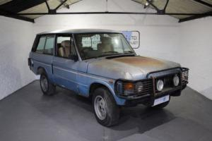 PROJECT FOR SALE: 1981 RANGE ROVER 'IN VOUGE' 2DR BLUE
