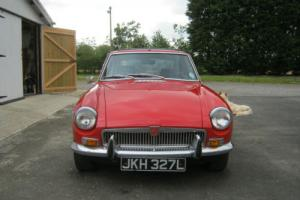 MGB GT 1972 BRIGHT RED ORIGINAL FACTORY SUNROOF, TIME WARP INTERIOR M.B.SEEN