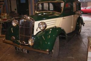 1937 Wolseley 12/48 Saloon Car. Restored and running.