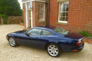 JAGUAR XK8 COUPE SAPPHIRE BLUE WITH IVORY LEATHER, FULL HISTORY , NEW MOT