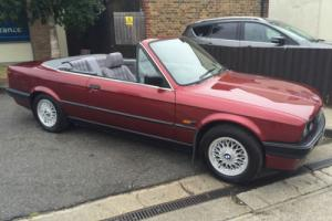 BMW 318 1.8 i E30 CONVERTIBLE POWER HOOD IMMACULATE 92 K REG
