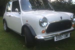 classic white mini mayfair 1986 fully restored and mot'd