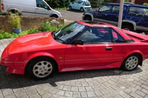 1989 TOYOTA MR2 RED
