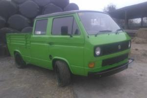 1987 VOLKSWAGEN TRANSPORTER TD 4 P UP GREEN VOLKSWAGEN T25 CREW CAB PICK UP