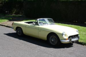 MGB ROADSTER , JUST ONE OWNER FROM NEW AND 66000 MILES , VERY ORIGINAL