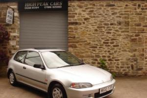 1995 M HONDA CIVIC 1.4 DX 3DR 51152 MILES ONE OWNER TWENTY ONE SERVICE STAMPS.