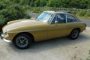 MGB GT 74, Gold Chrome bumper