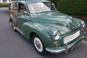 Morris Minor Traveller 1968 Almond green with leather interior