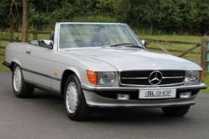Classic Mercedes-Benz R107 420 SL (1988) Astral Silver with Black Sports Check
