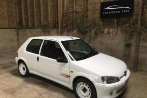 PEUGEOT 106 1.6i Series 2 S2 Rallye Limited Edition UK 500 Hundred Petrol White Photo