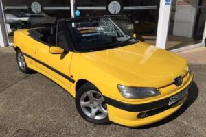 PEUGEOT 306 1997 2.0 CABRIOLET 16V CONVERTIBLE PETROL MANUAL YELLOW, Yellow, Man Photo